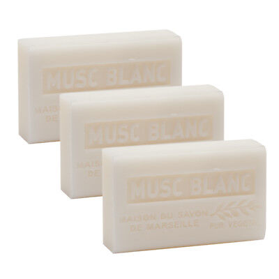 £9.95 • Buy White Musk, French Soaps With Shea Butter, Traditional Savon De Marseille 3x125g