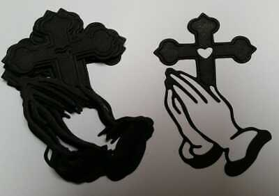 £0.99 • Buy 10 Die Cut Black  Religious Toppers  For Crafts