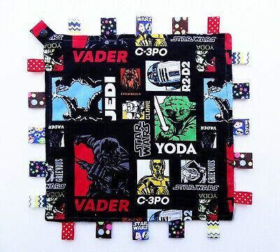 £13.03 • Buy STAR WARS Taggie Taggy Tag Security Blanket Toy Comforter Dummy Clip Holder Snap
