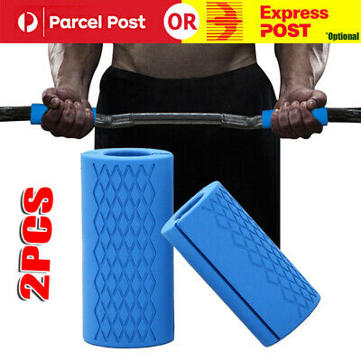 AU22.34 • Buy 1Pair Silicone Grips Thick Fat Gym Arm Wrap Bar For Barbell Dumbbell Weightlift