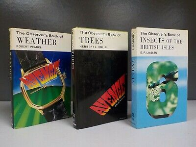 £50 • Buy Cyanamid Observer Book Insects Of The British Isles Trees Weather 3 Books ID892