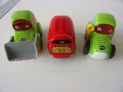 £8.99 • Buy Vtech  Toot Toot Bulldozer Bus And Tractor.light And Sound..great Lot.
