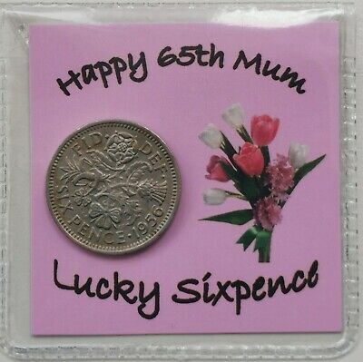 £2.99 • Buy 65th Birthday Mum Sixpence Gift *1956 Coin* -  1st Class P&p Included