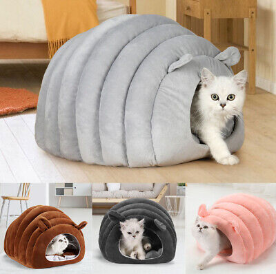 £17 • Buy New Pet Small Dog Cat Cave Bed House Igloo Washable With Inner Cushion Basket UK