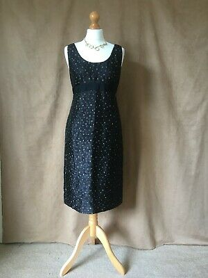 £14.49 • Buy Phase Eight.Ladies / Womens Lined Elegant Black Patterned Dress Size 12.