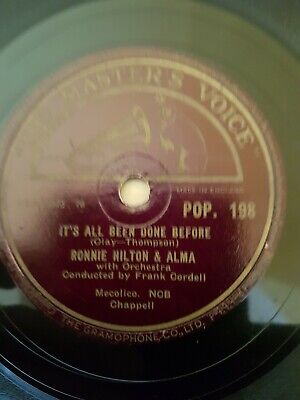 £4.99 • Buy Uk #1 1956 Ronnie Hilton 78  No Other Love / All Been Done Before  Hmv Pop198 E-