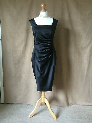 £14.49 • Buy NEXT Ladies/Womens Lined Black Satin Evening Or Special Occasion Dress. Size 14