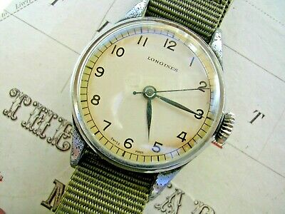 £1495 • Buy 1942 Longines 6b/159 British Royal Air Force Pilot's Watch On Nato-style Strap.