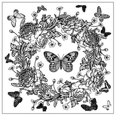 £2.60 • Buy Butterfly Wreath DIY Silicone Clear Stamp Cling Seal Scrapbook Embossing Album