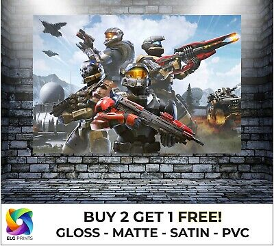 £5 • Buy Halo Infinite Gaming Characters Large Poster Art Print Gift In Multiple Sizes