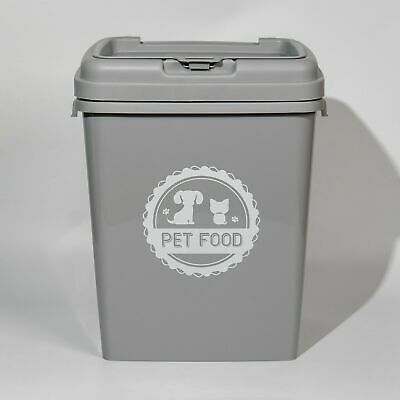 £23.99 • Buy 40L Pet Food Dry Feed Container Animal Dog Cat Storage Box Bin & Scoop (Grey)