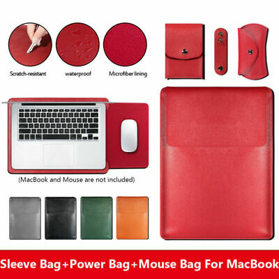 $16.88 • Buy For MacBook Air Pro Retina 11 12 13 15 Leather Laptop Carry Bag Sleeve CaseCover