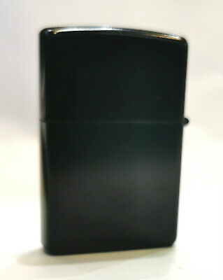 AU9.99 • Buy New Collectable Black Chrome Pocket Metal Refillable Windproof Oil Lighter