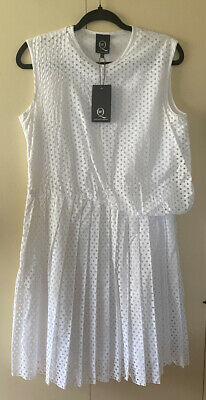 AU72 • Buy New With Tag  Designer Alexander McQueen White Sleeveless Dress - IT 44/UK 14