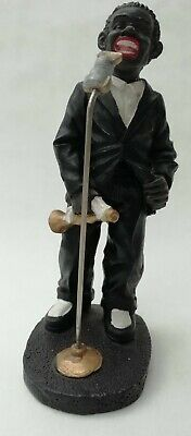 £9.99 • Buy Jazz Singer At Microphone With Trumpet Resin Figurine Ornament Louis Armstrong