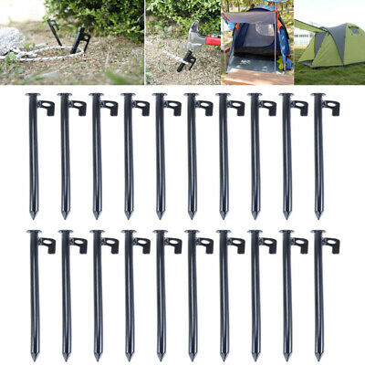 AU26.96 • Buy 30cm Heavy Duty Drill Screw In Ground Tent Pegs Camping Awning Ground Stakes NEW