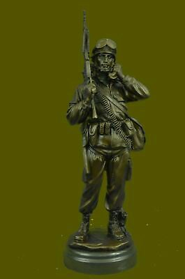 $186.75 • Buy Army Specialist Salute U.S. Soldier 15  Military Statue Bronze Hand Made Figure
