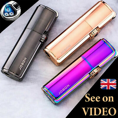 £10.99 • Buy Jobon Jet Lighter POWERFUL TRIPLE TURBO FLAME Torch Windproof Gas Refillable