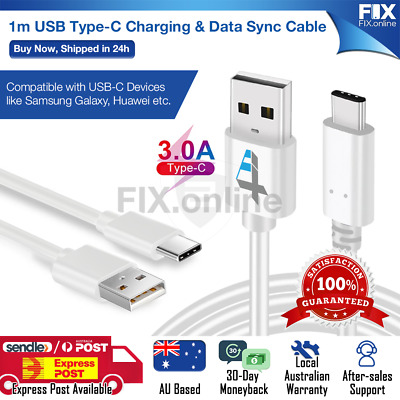 AU2.29 • Buy USB-C Cable Fast Charging Sync Data Cord For Galaxy S9 S8 S10+ S20 S21 White