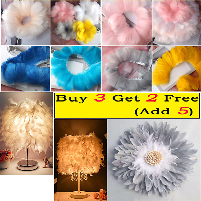 £4.59 • Buy 1m Natural Feather Fringe Trim Ribbon For DIY Sewing Party Clothing Accessories
