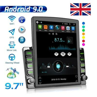 £146.99 • Buy 2Din 9.7in Android 9.1 Car Stereo Radio MP5 Player Sat Nav GPS Bluetooth WIFI FM