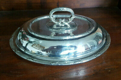£50 • Buy Very Good Antique Silver Plated  Entree Vegetable Serving  Dish