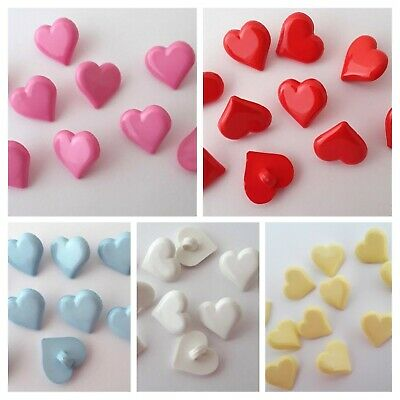£2.20 • Buy 10 Heart Buttons 15mm Baby, Childrens BUTTONS, Craft Supply