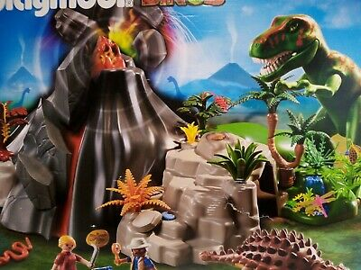 £69.99 • Buy Playmobil 5230 Complete CONTENTS SEALED Exploding Volcano T-Rex Dinosaur NO BOX!
