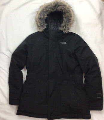 £49 • Buy Girls North Face 550 DryVent Black Quilted Goose Down Hooded Parka Coat Large