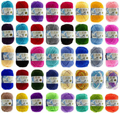 AU1.69 • Buy New Knitting Wool Crochet Milk Soft Baby Cashmere Hand Yarn 50g Skeins 83 Colors