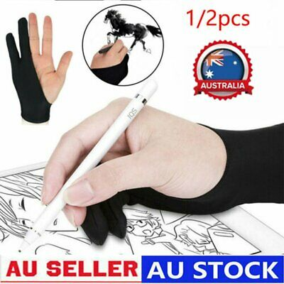 AU8.38 • Buy Two-fingers Artist Anti-touch Glove For Drawing Tablet Right And Left Hand OD