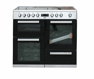 £625 • Buy Beko KDVC100X 100cm Electric Double Oven Range Cooker Stainless Steel