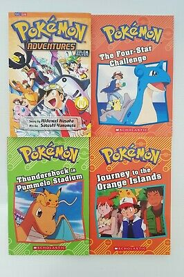 AU16 • Buy POKEMON Books X 4 Including Adventures Gold And Silver ( Paperback Anime )