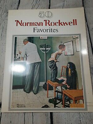 $ CDN22.65 • Buy Vtg 1977 NORMAN ROCKWELL Favorites Book 50 Large Posters Coffee Table Frameable