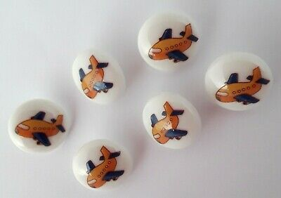 £2.45 • Buy 10 Airplane Picture Buttons 15mm Childrens Novelty Buttons, Craft Supply