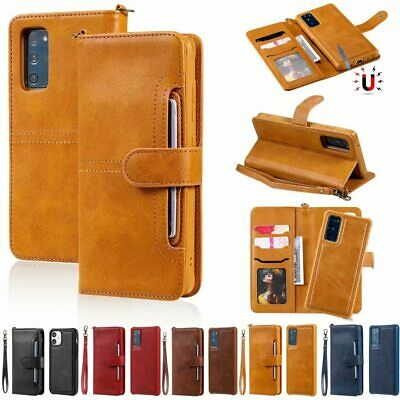 $ CDN6.91 • Buy Removable Leather Flip Wallet Case Cover F Samsung S21 Note 20 Ultra S20 S10+ S9