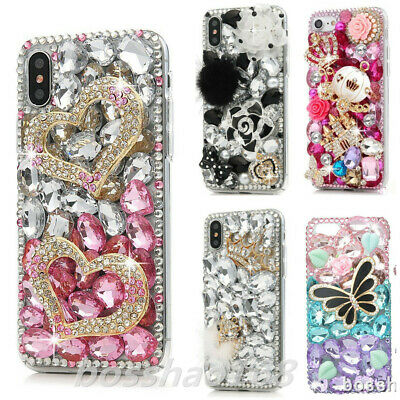 £14.99 • Buy For TCL 10 5G Case,Women 3D Sparkly Bling Rhinestones Protective Phone Cover