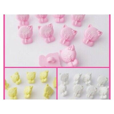 £2.20 • Buy 10 Cat Shape Buttons Baby, Childrens, Craft Supply Sewing, Knitting