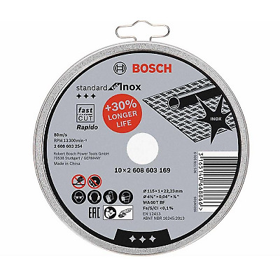 £8.59 • Buy Bosch 115mm X 1.0mm Thin Cutting Discs Stainless Steel Slitting Disc Tin Of 10