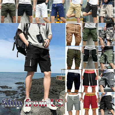 $16.99 • Buy Man's Fashion Casual Cargo Shorts Pants Chino Summer Beach Outdoor Trousers US