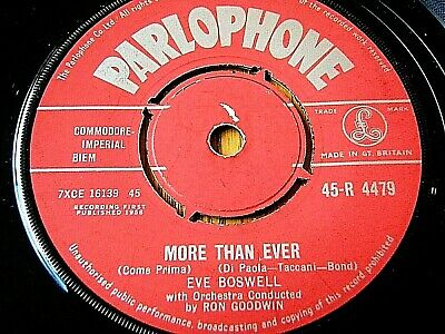 £4.49 • Buy Eve Boswell - More Than Ever  7  Vinyl