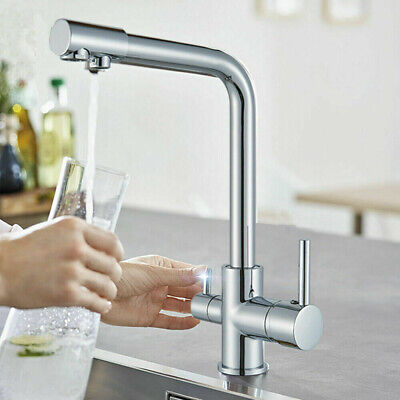 £41.99 • Buy Chrome Kitchen Sink Faucet Waterfilter Tap Mixer Drinking Water Filter 3 Way RM