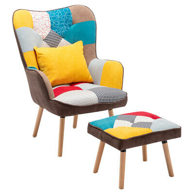 £259.95 • Buy Chesterfield Lacey Tub Armchair Accent Chairs/Footstool/Pillow With Light Legs