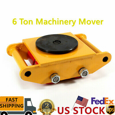$62 • Buy 6 Ton Machinery Mover Dolly Skate Roller Heavy Duty 4-Wheel Cargo Moving Machine