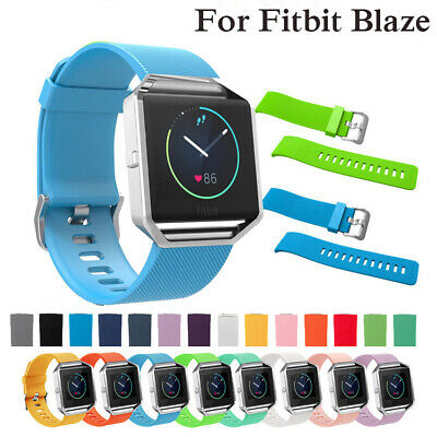 AU5.39 • Buy Silicone Band Strap Soft Sport Fashion Breathable Replacement For Fitbit Blaze