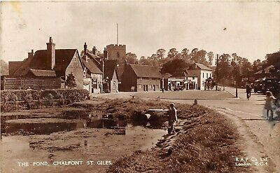 £9.90 • Buy Postcard  Chalfont St Giles - The Pond - Animated Scene - Rp