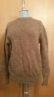 £30 • Buy Vintage Clothkits Pure Wool Knitted Ribbed Highland Style Jumper. Unisex VGC