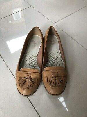 £15 • Buy Fab Clarks  Tan Leather Loafer Shoes Uk 5 D