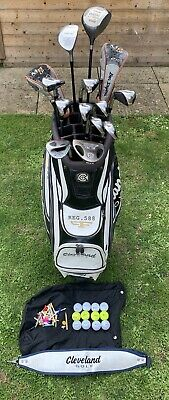 AU283.27 • Buy Full Set Of Cleveland Golf Clubs 4 Woods, 9 Irons & Putter In Trolley Bag