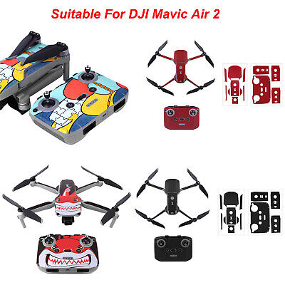 AU24.74 • Buy For DJI Mavic Air 2 Drone Body Arm Battery Skin Decals Protective Sticker Cover
